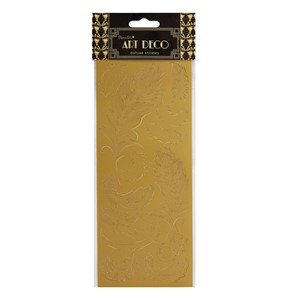 Outline Stickers - Feathers Gold