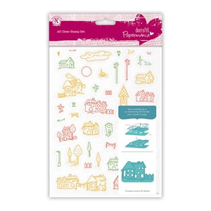 A5 Clear Stamps Set 40pcs - Village
