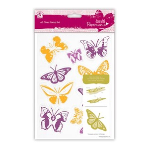 A5 Clear Stamps Set 10pcs - Butterflies