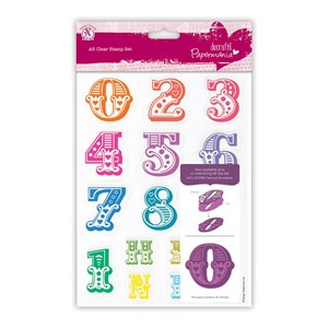 A5 Clear Stamps Set 16pcs - Carnival Numbers