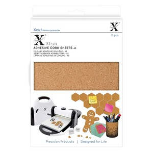 Xtra A5 Adhesive Cork  Sheets 15pcs
