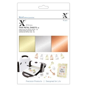 Xcut Xtras A5 Thin Metal Sheets 10pcs
