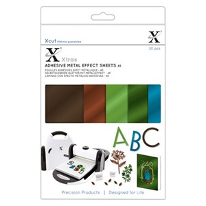 Xcut Xtras A5 Adhesive Metal Effect Sheets (20pcs) - Natural