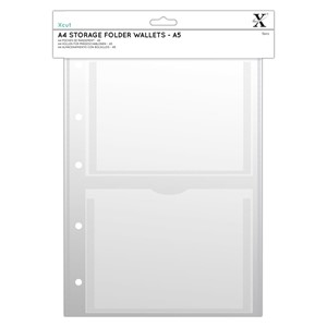 """Xcut A4 Storage Folder Wallets - A5 (XCU 245103) A4 Storage"