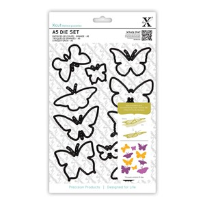 A5 Die Set 10pcs - Butterflies
