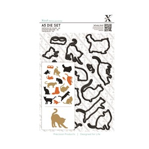 A5 Die Set 16pcs - Mixed Cats
