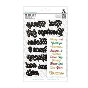 A5 Dies Set 14pcs - Christmas Sentiments