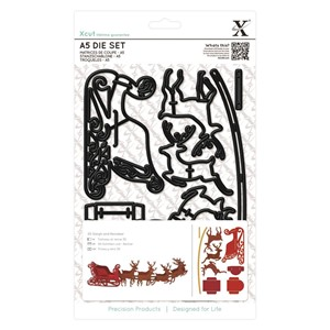 A5 Die Set 9pcs - Reindeer and Sleigh