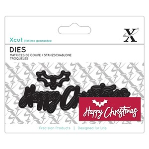 Mini Sentiment Die 3pcs - Happy Christmas