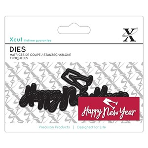 Mini Sentiment Die 4pcs - Happy New Year