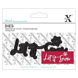 Mini Sentiment Die 4pcs - Let It Snow