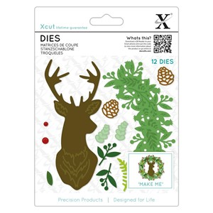Dies 12pcs - Woodland Stag Wreath