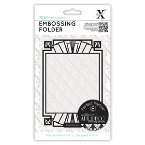 A6 Embossing Folder - Fan Frame