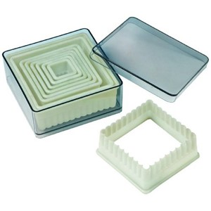 Nylon Cutter Set, Boxed, Fluted Square, 9 pc set  UTGÅR