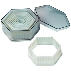 Nylon Cutter Set, Boxed, Fluted Hexagon, 9 pc set UTGÅR