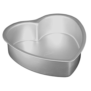 "Heart cake pan solid bottom 14""""""""x3""""""""   UTGÅR"