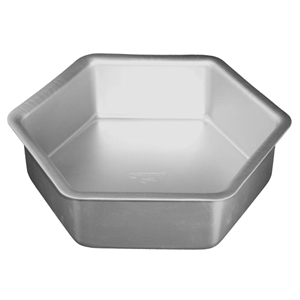 "Hexagon cake pan solid bottom 10""""""""x3""""""""   UTGÅR"