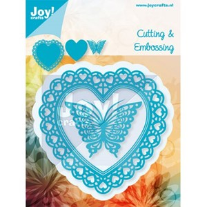 Cutting & Embossing dies (3st) - Open heart and butterfly