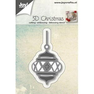 Cut Embos Debos Stencil - 3D Christmasball