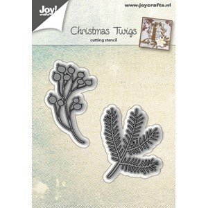 Cuttingstencil - Christmastwig and berries - Jul.17 - 33x43/