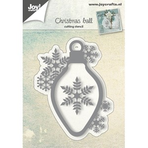 Cuttingstencil - Christmasbal with snowflake - Jul.17 - 64x8