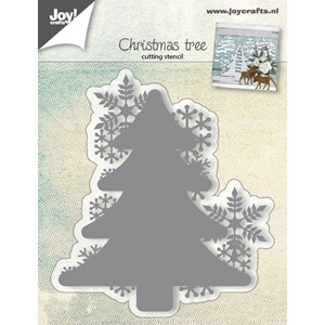 Cuttingstencil - Christmastree with snowflakes - Jul.17 - 83