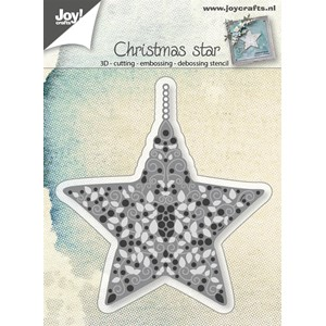 Cut-embos-debosstencil - Star filled
