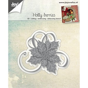Cut-embos-debosstencil - Holly with berries - Aug.17 - 74x64