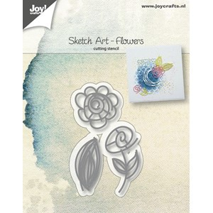 Cuttingstencils - Sketch Art - Flowers