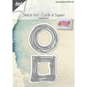 Cuttingstencils - Sketch Art - Circle & Square