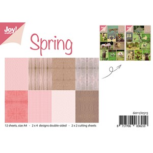 Paperset with cutting sheets - Spring A4 - 12 sheets -