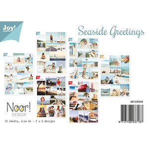 Cuttingsheets A4 - Seaside Greetings - Summer 12 sheets -