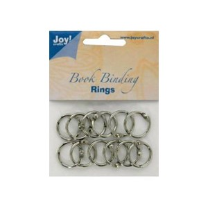 Bookbinders rings, 25mm-  12stk  silver