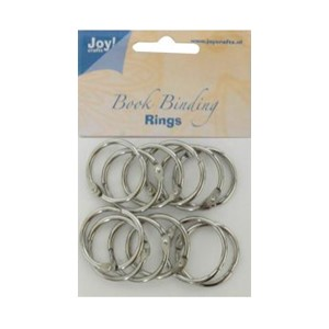 Bookbinders rings, 35mm -12stk silver