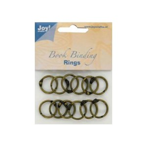 Bookbinders rings, 25mm- 12stk copper