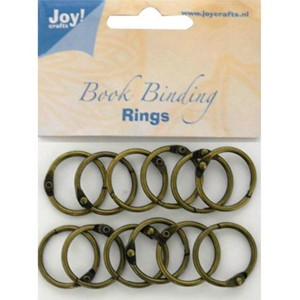 Bookbinders rings, 30mm- 12stk copper