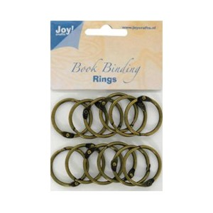 Bookbinders rings, 35mm - 12stk copper
