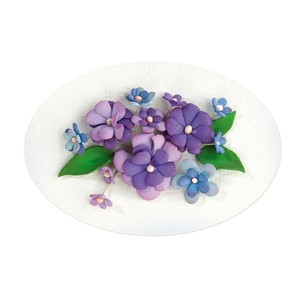 Flower foam assortment Set 2, blue -  violet,  6 sheets A4 0