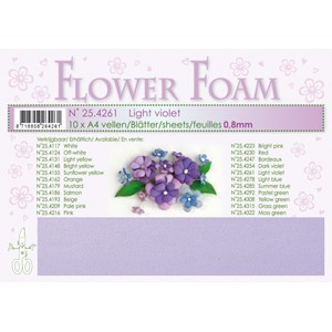 Light violet 10 Flower foam sheets A4 0.8mm.