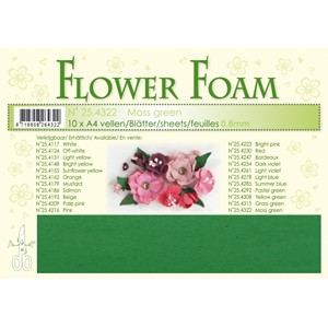 Moss green 10 Flower foam sheets A4 0.8mm.