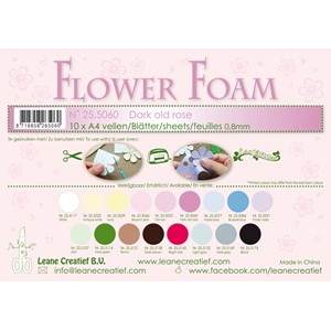 10 Flower foam sheets A4 0.8mm. Dark old rose