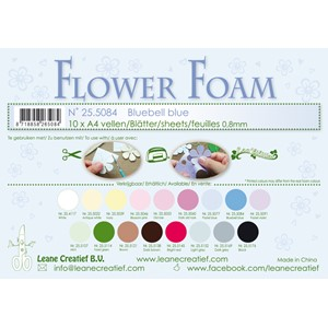 10 Flower foam sheets A4 0.8mm. Bluebell blue