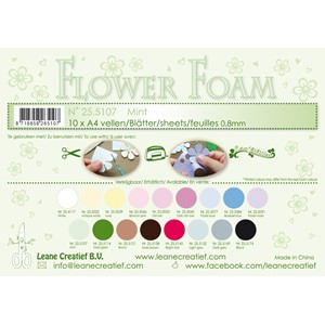 10 Flower foam sheets A4 0.8mm. Mint