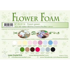10 Flower foam sheets A4 0.8mm. Forest green