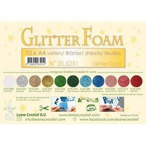 10 Glitter foam sheets A4 Glitter Gold
