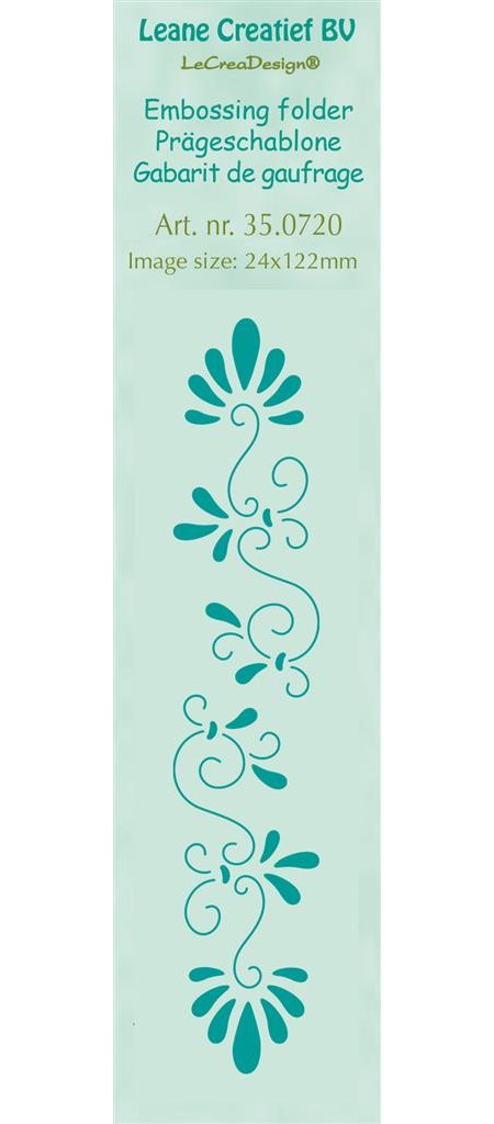 Border embossing folder Curlicue 24x122mm