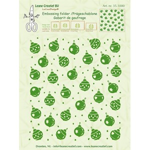 Embossing folder background Christmas ornaments 14.4x16cm