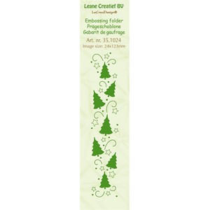Border embossing folder Christmas trees 24x123mm
