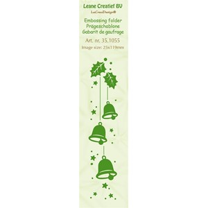 Border embossing folder Christmas bells  25x119mm