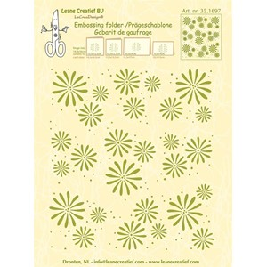 Embossing folder background Flowers 14.4x16cm